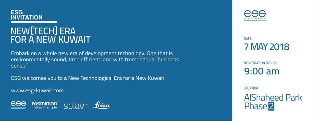 """ROSMIMAN is being part of """"NEW [TECH] ERA FOR A NEW KUWAIT"""" organised by ESG in Kuwait"""